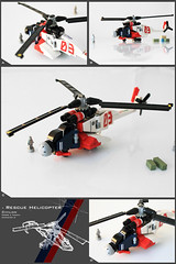 Rescue Helicopter (Pierre E Fieschi) Tags: rescue coast chopper lego pierre guard helicopter micro cote heli sauveteur sauvetage fieschi guarde microscale