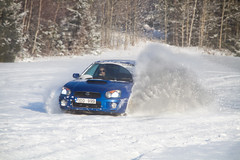 Impreza + Snow = true (R.Norgren) Tags: 2005 snow eye sweden powder subaru blob impreza wrx sti