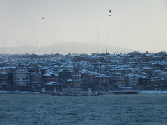 Snow in Istanbul (CyberMacs) Tags: sea snow cold water weather turkey other sunny places istanbul deniz maidenstower bosporus kzkulesi skdar leanderstower mdchenturm leanderturm towerofleandros lnytorony szztornya