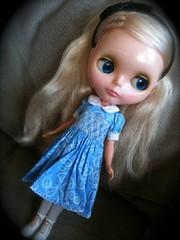 pretty girl in pretty smocked dress