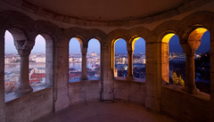 Day and Night (Fishermans Bastion) (Crazy Ivory) Tags: blue windows sky sunlight castle up composite night canon dark interesting hungary day bright time budapest sigma wideangle down artificial hills nighttime daytime times process gellert chainbridge sigma1020mm fishermansbastion dayandnight halszbstya darkandbright canoneos40d gettygermanyq4