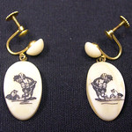 "<b>Earrings with Eskimo and Seal</b><br/> -Unknown- Earrings with Eskimo and Seal Ivory, ca. 1971 LFAC #2008:01:39<a href=""http://farm8.static.flickr.com/7170/6835906257_56093fd8f8_o.jpg"" title=""High res"">∝</a>"