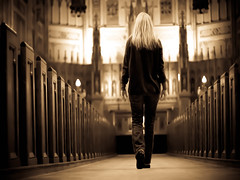 Just saying hey.... (Patty Maher) Tags: woman church basilica oops princeedwardisland thisismyrealhair andmyrealclothes imnotsureifitswrongtotakeselfiesinachurch