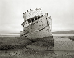 The Point Reyes, Tomales Bay (austin granger) Tags: abandoned film time decay 8x10 shipwreck weathered pointreyes fishingboat largeformat tomalesbay pointreyesnationalseashore austingranger