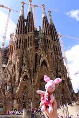 20.09.2011: Ferkel vor der Sagrada Família von Antoni Gaudí