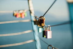 Locked (MSC_Photography) Tags: blue lake cold zeiss germany bayern deutschland bavaria see nikon bokeh lock low jena dandelion shore carl f2 zenit d200 ufer schloss 58mm chiemsee swirly 44 helios 442 444 pusteblume biotar 446 445 seebruck 447 443 vorhngeschloss 44m warmg