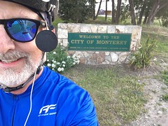 Arriving in Monterey (Campy Only) Tags: california bicycling coast ride bigsur hwy1