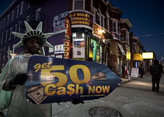 Get 50 Ca$h now (Blinkofanaye) Tags: poverty sign print liberty fine poor baltimore need tax survival