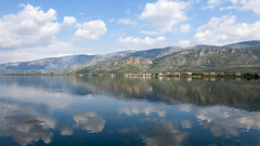 Etolikon (Ava Babili) Tags: sky reflection nature lagoon greece d90 challengeyouwinner etolikon cyunanimous