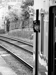 Shashin - DSCN4477 (Mathieu Perron) Tags: life city bridge people bw white black monochrome japan french nikon noir perron fair daily nb international journey   week osaka mp blanc department japon personne semaine ville chuo hankyu gens vie mathieu    sjour   senri quotidienne        p520   zheld