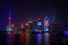The Bund (mattias811) Tags: china water night buildings river lights nikon asia neon skyscrapers shanghai tokina pudong huangpu waitan d7200