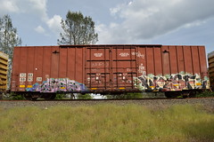Jase & Wyse (huntingtherare) Tags: train bench graffiti ba d30 freight je jase rollingstock wyse a2m benching