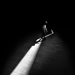 (Svein Nordrum) Tags: light shadow bw motion contrast dark square noir darkness stripe explore nero explored