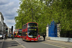 London General WVL25 LG02KJA Route 22 Picadilly (TfLbuses) Tags: red london public buses ahead for volvo general go transport double gemini decker tfl wrightbus b7tl