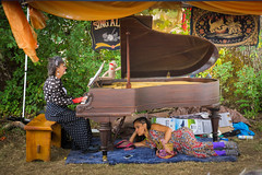 Harmony [Explore] (Tom Fenske Photography) Tags: people festival outdoors women piano tent ocf oregoncountryfair singalong