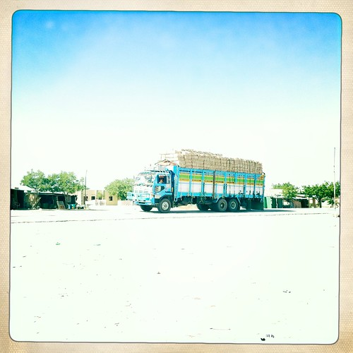 Truck in Somaliland thru Iphone Hipstamatic