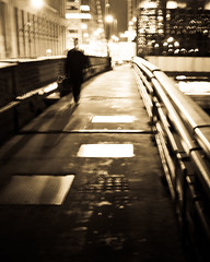 the outsourcer (explore 11/28/11) (6 of Kevin Bacon) Tags: bridge chicago man night walking il suit vanburen briefcase nite