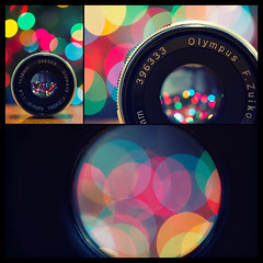 [311] Christmas is officially... almost here. (Linh H. Nguyen) Tags: old macro colors closeup lens lights triptych bokeh catchy bokehlicious sigmamacro50mm nex5n