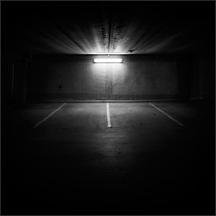 A Sanctuary (Olli Keklinen) Tags: light bw photoshop suomi finland dark square helsinki nikon darkness parking gettyimages malmi 2011 500x500 ok6 d700 ollik 20111204
