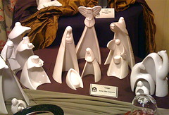 white porcelain nativity