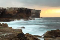 Edge of a continent (Harlz_) Tags: ocean sea cliff clouds sunrise canon gold coast sandstone rocks waves zoom sydney australia nsw kurnell botanybaynationalpark 24105mm cliffline 5dmarkii
