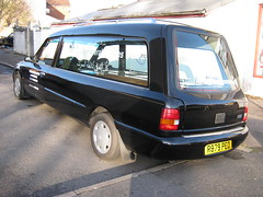 NOVEMBER 1997 FORD GRANADA CARDINAL HEARSE 2300cc R879PEO (Johns Car pictures and scans pages.) Tags: november ford cardinal granada 1997 hearse 2300cc r879peo