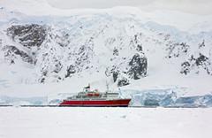 MS Expedition - Antarctica II (Terra_Tripper) Tags: snow ice birds ship pack bow peaks peninsula continent icebergs antarctic petrel shetlandislands msexpedition