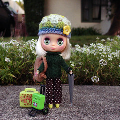 She's home! (boxsquare.) Tags: pet hat shop sweater pants crochet polka dot blythe petite cabe littlest