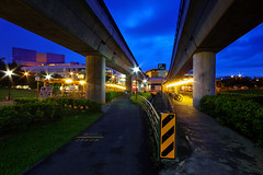 Pathways (night86mare) Tags: sunset architecture twilight singapore path mrt tampines k5 10mm heartlands