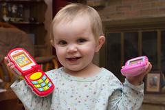 Two Phones #2 (Craig Dyni) Tags: girl toddler madelyn alannah dyni