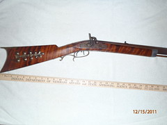 Size of stock on plains rifle (olderthebetter) Tags: ohio maple gun antique steel rifle barrel pa civilwar brass pewter ramrod patina 1880 1850 45caliber musket 1830 rifling iorn mid1800 doublesettrigger settrigger oldrifling 27inchstock pourednoisecap