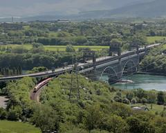 Britannia Voyager (PGCarter) Tags: railroad bridge train railway virgin voyager curve llanfairpwllgwyngyllgogerychwyrndrobwllllantysiliogogogoch llanfairpg dmu menaistrait llanfairpwll britanniabridge llanfairpwllgwyngyll
