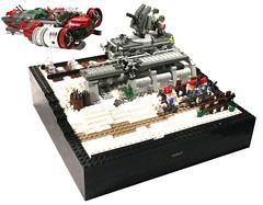 When Santa Claus goes to town (it) Tags: santa snow lego apocalypse apoc