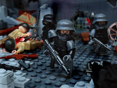 Weird War II : Rise Of the Nazi ([N]atsty) Tags: photoshop for cool blood war gun contest goggles gore future ba minifig stg scenes muzzle minifigure flas catagory brickarms legi minifigcat