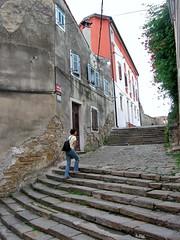 Broad staircase, old town, Piran, Slovenia (Paul McClure DC) Tags: architecture historic slovenia piran slovenija istria istra primorska pirano june2010