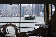 Star Ferry in Hong Kong (Mateusz Machulski) Tags: china skyline hongkong asia skyscrapers starferry victoriaharbour