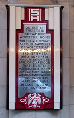 Photo of Anne Hyde and James II grey plaque
