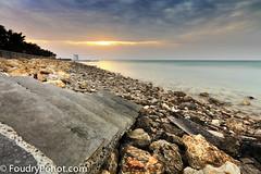 A stair To Sunset (A.alFoudry) Tags: bridge sunset sea cloud sun clouds stairs canon palms eos rocks stair gulf mark tide low full arab staircase shore frame 5d lowtide kuwait fullframe ef kuwaiti q8 abdullah bech غروب mark2 showaikh 2011 1635mm الكويت || f28l بحر kuw q80 q8city xnuzha alfoudry الفودري abdullahalfoudry foudryphotocom mark|| 5d|| canoneos5d|| mk|| canoneos5dmark|| canonef1635mmf28lmark||