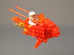 TRANSMUTE! (halfbeak) Tags: orange princess transparent battleoftheplanets lsb 2011 speederbike transmute legospeederbike colourmefascinated