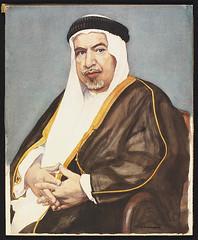 Sheikh Abdullah Alsalem Alsabah (Aljamea) Tags: old portrait bw history vintage watercolour kuwait past sheikh kuwaiti abdullah alsabah alsalem