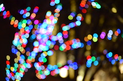 Luster (chrislawton57) Tags: rainbow blurry explosion outoffocus christmaslights xmaslights