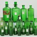 2005. (21) Green Glass Medical Bottles