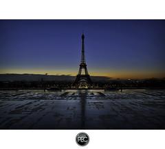 Eiffel Tower from Trocadero - Paris (_PEC_) Tags: morning winter paris france tower sunshine photoshop sunrise canon soleil photo tour view hiver engine eiffel 75007 5d 75 trocadero hdr parisian lever matin chaillot mark2 pec 2011 75016 oloneo