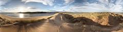 Sand dunes and grasses (PC225172) (Mel Stephens) Tags: uk panorama grass geotagged coast scotland sand december aberdeenshire panoramic coastal grasses gps stitched newburgh ptgui 2011 forvie