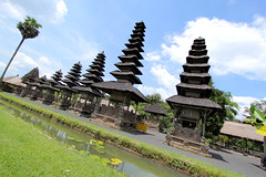 Pagoda-Like Temples (grass-lifeisgood) Tags: travel vacation bali canon indonesia landscape ultrawide pura efs 1022mm taman ayun