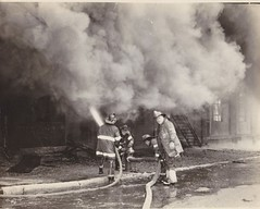 March 6,1976 (KYCONRAE2010) Tags: fire smoke firemen firefighter fdny firedepartment firefighters fireground workingfire engine216