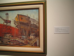 Boat Building Painting Images from the Museum (catchesthelight) Tags: painting boats maine naturallight exhibit noflash collection shipyard boatbuilding portlandmuseumofart itsmulticolored wwwportlandmuseumorg