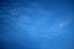 luna due (The Ocean Dream ) Tags: blue sky moon clouds canon crescent canon60d