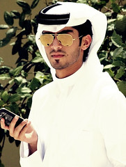 (Foo) Tags: portrait man look sunglasses model hand gulf blackberry handsome arabic east mohammed arab middle bb doha qatar mohd     qatari        fakhroo   ifakhroo foo