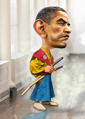 Barack Obama - Cartoon